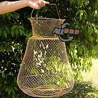 Садок рыболовный металлический каркас складной диаметр 40 см