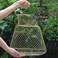 Садок рыболовный металлический каркас складной диаметр 25 см