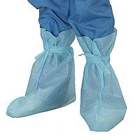 Бахилы высокие хирургические из нетканого материала, пл.40, синие
