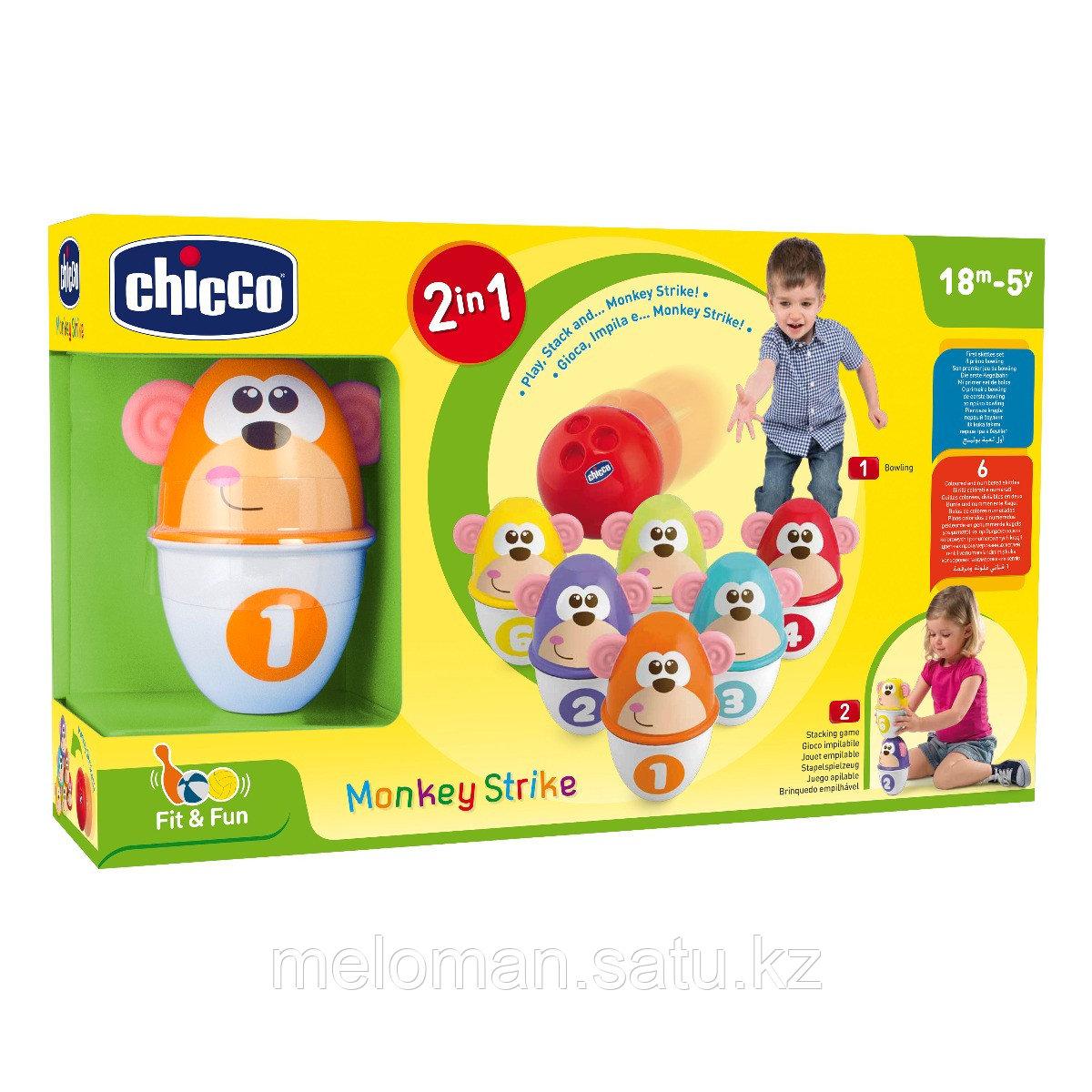 "Chicco: Боулинг Monkey Strike 2 в 1 ""Fit&Fun"", 18м+ - фото 9"