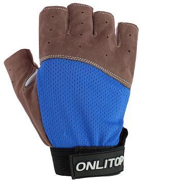 Перчатки спортивные, размер S, цвет синий