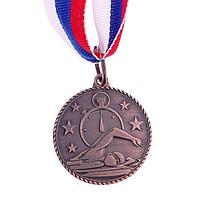 Медаль тематическая «Плавание», бронза, d=3,5 см