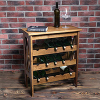 Стеллаж винный 'Прованс', 15 бутылок, 70х64х32 см, массив дуба, темного ореха