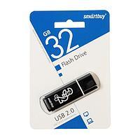 Флешка Smartbuy Glossy series, 32 Гб, USB2.0, чт до 25 Мб/с, зап до 15 Мб/с, черная