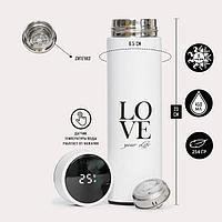 Термос Supreme 'Love', c термометром, 450 мл, сохраняет тепло 8 ч, 23 х 6.5 см