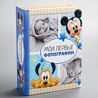 Фотоальбом на 100 фото в твёрдой обложке 'Мои первые фотографии', Микки Маус и друзья