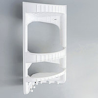 Полка для ванной комнаты угловая, цвет белый