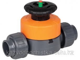 Клапан мембранный диафрагменный ПВС/PVC д. 20 DN 15