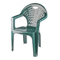 Пластиковое кресло (стул) М7308, цвет тёмно-зелёный