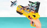 Немного помятая!!! 666 Пистолет планнер Air Battle стреляет самолетами (4 самолета) 35*21