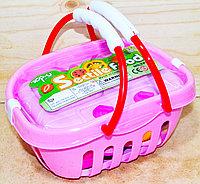 Трещина небольшая на корзинке!!! TP281/2 на товаре TP27 Кухня розовая корзинка 21*17см