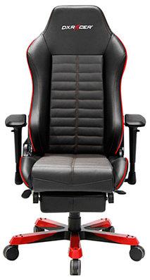Кресло игровое компьютерное DXRacer Iron OH/IA133/NR, рег. высоты, подлокотник, 125 кг, Black-Red
