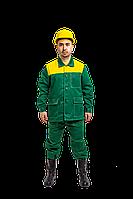 Костюм демисезонный «Дамаск» (Зеленый, с желтой кокеткой) 56, 188