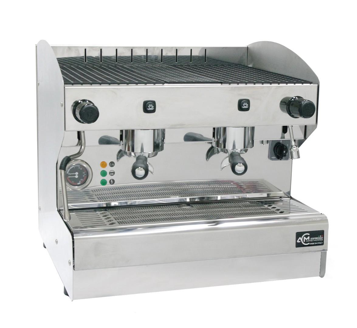 Кофемашина полуавтоматическая с 2 группами ACM Srl Rounder 2 GR Compatta INOX (ACMRD002CSIX)