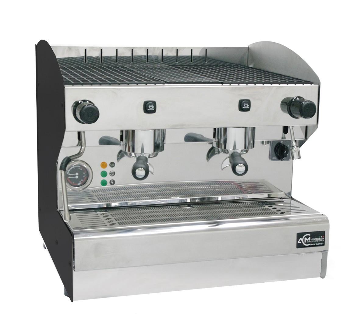 Кофемашина полуавтоматическая с 2 группами ACM Srl Rounder 2 GR Compatta NERO (ACMRD002CSN)