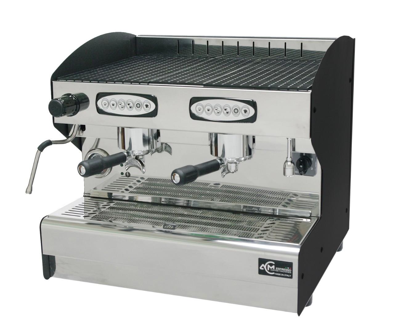 Кофемашина автоматическая с 2 группами ACM Srl Rounder 2 GR Compatta NERO (ACMRD002CN)