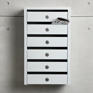 Ящик почтовый на 6 секций с замком и ключами ЯПП-6