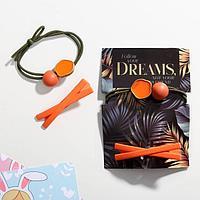 Набор резинка и заколка Dreams, 11 х 8 см