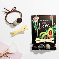 Набор резинка и заколка Do what you love, 11 х 8 см