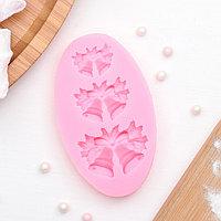 Молд силиконовый 'Колокольчики', 8,6x5,2 см, цвет розовый (комплект из 2 шт.)