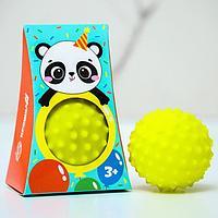 Развивающий, массажный, рельефный мячик 'Мишка Панда', цвета и формы МИКС