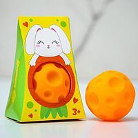 Развивающий, массажный, рельефный мячик 'Зайка', цвета и формы МИКС