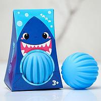 Развивающий, массажный, рельефный мячик 'Акула', цвета и формы МИКС