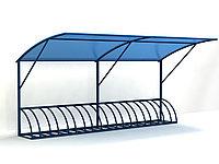 Велопарковка с крышей из поликарбоната