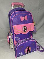 Школьный рюкзак на колесах для девочек, 1-3-й класс. Высота 50 см, ширина 30 см, глубина 20 см., фото 1