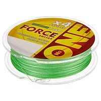 Плетёная леска №ONE FORCE Х4-bright green, 135 м, d=0,08 мм