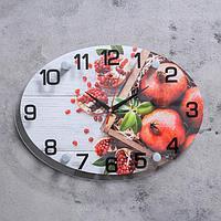"""Часы настенные """"Гранаты"""", плавный ход, 1 шт АА, 35х25х5 см"""