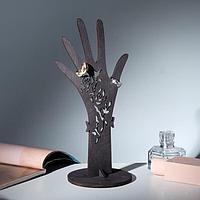 """Подставка для украшений """"Рука"""" 10*25*0,6, толщина 4мм, 6мм, сквозная резка, цвет коричневый"""