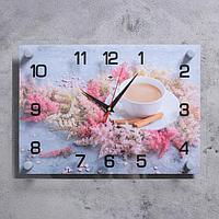 """Часы настенные """"Кофе с корицей"""" 25х35 см, АА, плавный ход"""