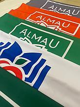Печать флагов на ткани в Алматы. Печать флагов на политексе. Печать флагов на габардине.