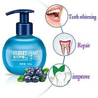 """Гелевая отбеливающая зубная паста со вкусом Черники """"Защита от образования зубного камня"""", 220 гр."""