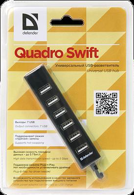 USB HUB  Defender Quadro Swift  черный