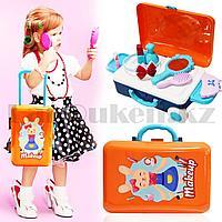 Игровой набор для девочек салон красоты в Чемодане Happy Makeup Artist оранжево-синий