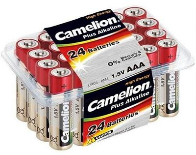 Батарейка Camelion AAA LR03-PB24, 1.5V (24шт.)