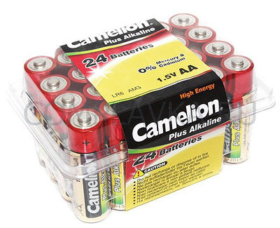 Батарейка Camelion AA LR6-PB24, 1.5V (24шт.)