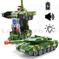 Игрушка детская трансформер со световыми и звуковыми эффектами Combat tank YJ388 44