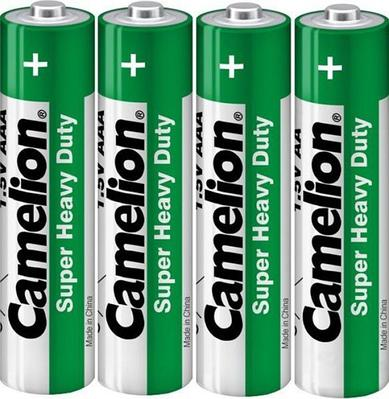 Батарейки Camelion AAA (R03P-PB4B), super heavy duty, комплект - 4 штуки