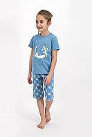 Пижама детская девичья 5-6 лет/ 110-116 см, Голубой