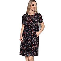Платье домашнее женское L / 46-48, Чёрный