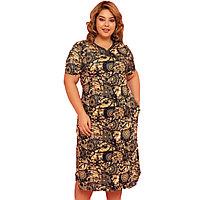 Платье домашнее женское 2XL / 52-54, Шоколад