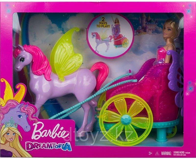 Barbie Сказочный экипаж с единорогом GJK53