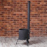 Печь под казан с трубой (под казан 22 л.) сталь 2 мм.