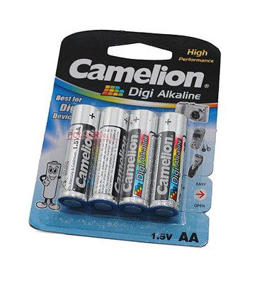 Батарейки Camelion AA (LR6-BP4DG), Digi alkaline, комплект - 4 штуки