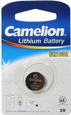 Батарейка Camelion CR1632-BP1, lithium, 3V, 1pc pack