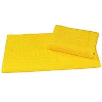Полотенце махровое гладкокрашеное 40×70 см 360 г/м2, желтый, 100% хлопок