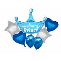 """Букет из шаров """"С днём рождения, принц"""", набор из 7 шт."""